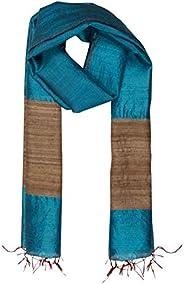 ROSHNI by Sunita bali Handwoven Women's long Silk scarf (dupatta) in Tassar silk with Gicha silk border (T