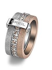 Idea Regalo - Breil - anello da donna, in acciaio inox, cristallo Swarovski BREILOGY, oro TJ142, Acciaio inossidabile, 14, colore: Oro, cod. TJ1421