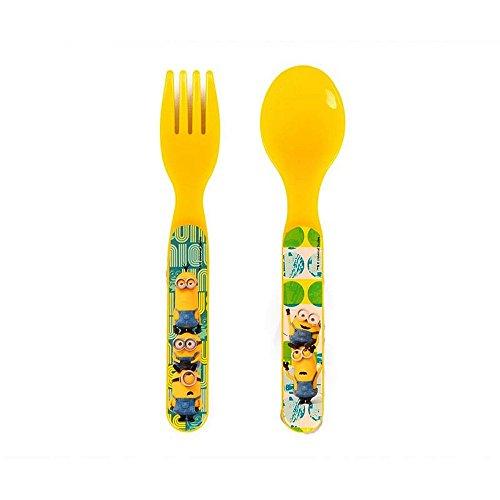 LULABI Fourchette Cuill/ère Emballage M/élamine Disney Minnie