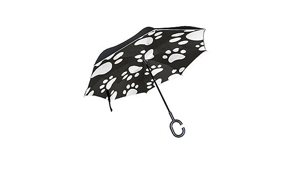 XiangHeFu Double Couche invers/é invers/é parapluies Animaux h/érisson Jungle Pliant Protection UV Coupe-Vent Grande Droite pour Voiture avec poign/ée en Forme de C