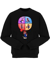 Sweatshirt Parodie auf Super Mario Bros und Wii Fit - Videospiel (783)