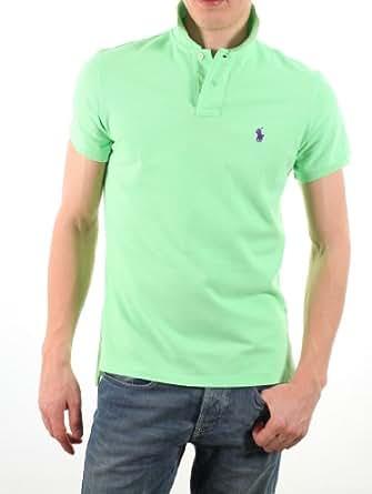 Polo Ralph Lauren - Chemise - Polo de Base - Poney petit / petit Violet - Ajustement Personnalisé - Homme - (Xxl) Vert Menthe