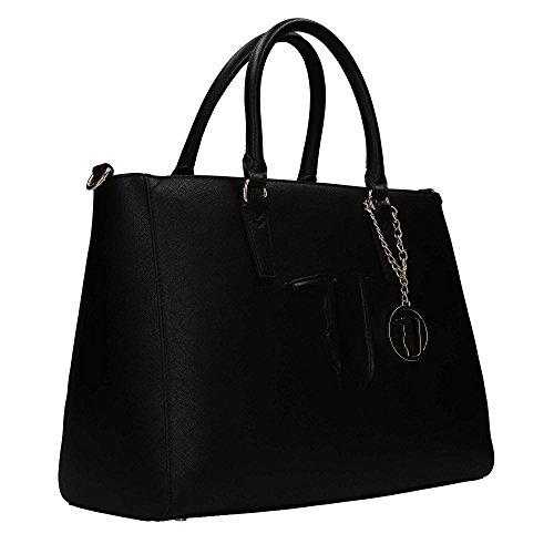 Borsa Jeans Black Donna Trussardi Tote Ischia waEfW4