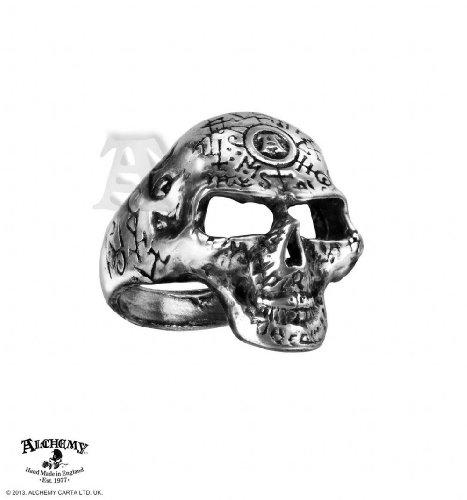Alchemy Gothic (Metal-Wear) Omega Schädel Ring (Alchemy Gothic Schädel Ring)