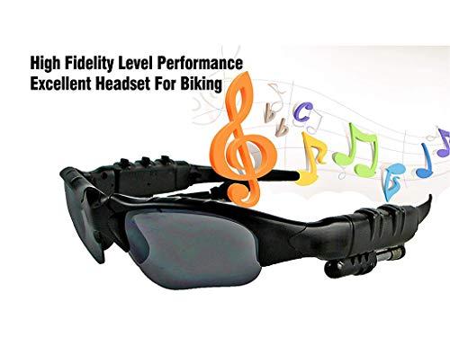 AILI Bluetooth Sonnenbrille Mit Eingebautem Kabellosem Kopfhörer Stereo Ohrhörer Mit Hände Frei Musik MP3 Player Telefon Anruf,Black