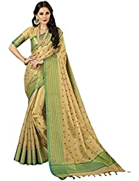 8f8d081773 Aagaman Fashions Cotton Silk Golden Festival Wear Embroidered Traditional  Saree