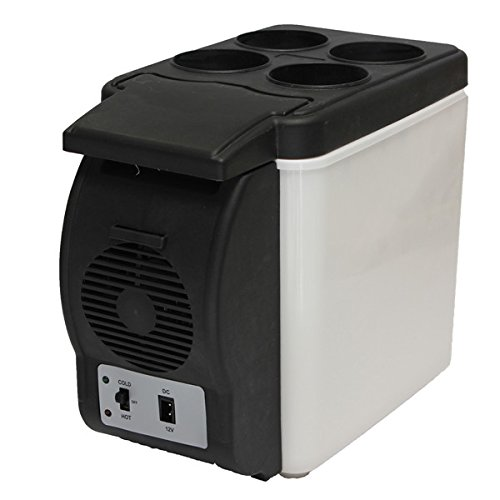 Mini Refrigerator Portable Fridge 12V 6L Auto Mini Car Travel Fridge ABS Multi-Function Home Cooler Freezer Warmer Cooling & Warming Refrigerator By Stvin