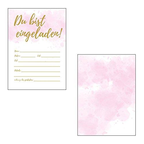 Made by Nami 12 x Einladungskarten im Set für Jeden Anlass / Batik Design / Einladung Geburtstag / Party / Einweihung / Feier / Geburtstagseinladungen Din A6 Kartenset (Ohne Umschläge)