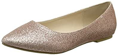 f0ac97834 Quiz Women s Glitter Pumps Closed Toe Ballet Flats  Amazon.co.uk ...