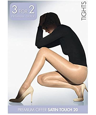 Wolford Women's Satin Touch Promo Set (3 Units) Tights, 20 Den, Schwarz (Nearly Black 7212), Small