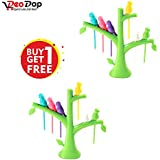 DeoDap's Fancy Bird Fork Free, Attractive On Table And Ideal Fork For Eating Fruits | Fancy Fork |Tree Shape Holder Rack Party Home Décor | Cutlery Set | Fork Set For Kids | Fork Set With Stand | Forks Set | Fork Stand | Fork Stand | Fork For