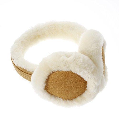 Ohrenschützer aus Wolle, kuscheliger Ohrwärmer für Damen und Herren, ein tolles Weihnachtsgeschenk für Ihren Freunden und Ihren Familien (Khaki)