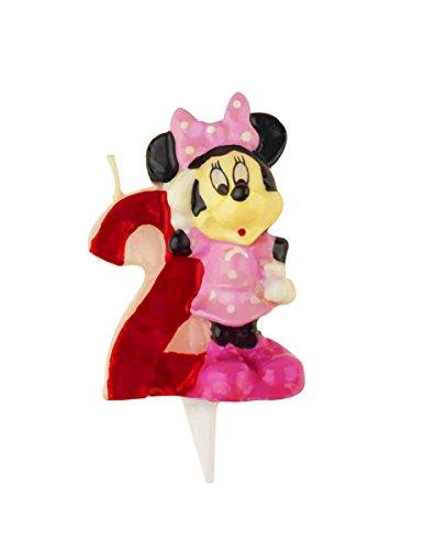 Vela de cumpleaños Disney | Minnie nº2 Rojo