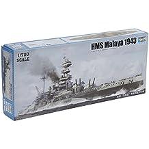 Trompetista Modelo del buque de guerra HMS Malaya en 1943 (1: 700)