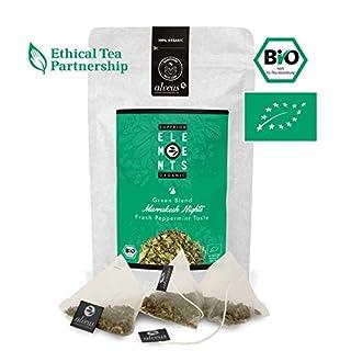 alveus® Marrakesh Nights Organics Elements: Grüner Tee, Pfefferminze, grüne Minze, Tüte mit 15 Pyramidenbeutel à 3g