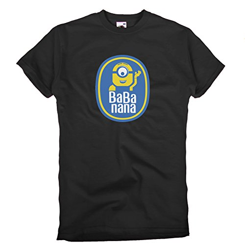 GIOVANI & RICCHI Herren Banana nana Vintage Herren T-Shirt Minions Fun Shirt in verschiedenen Farben -