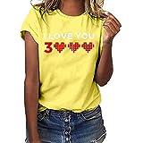 Camisetas para Mujer Verano Manga Cortas Tallas Grandes LuckyGirls • • Camisetas Mujer Casual Vestir con Frases Blusas Fiesta Elegante Suelto