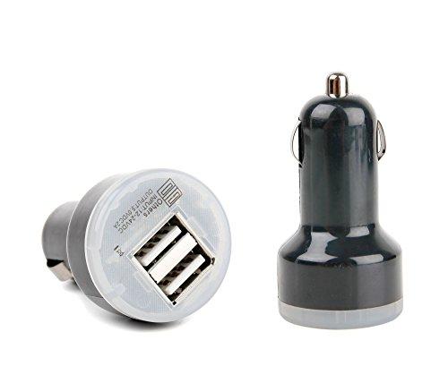 Duragadget - Chargeur Voiture USB 2 Amp pour AKASO K88, X5C 4CH - Charge Rapide