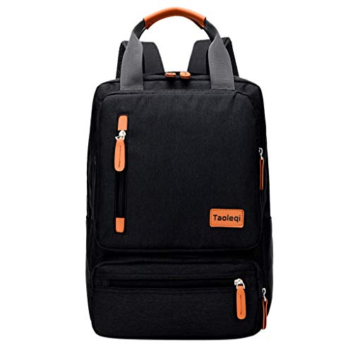 Volltonfarbe Multifunktional Reißverschluss Laptop Schulrucksack Handtaschen Umhängetasche Daypack Rucksack Schultaschen Tagesrucksack Reiserucksack für Schule Reise Arbeit ()