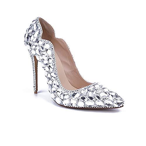 Xyh scarpe da donna primavera estate comfort tacchi novità scarpe da passeggio gioielli tacco scintillante glitter tacco strass scintillanti strass scarpe da sposa scarpe da sera scarpe