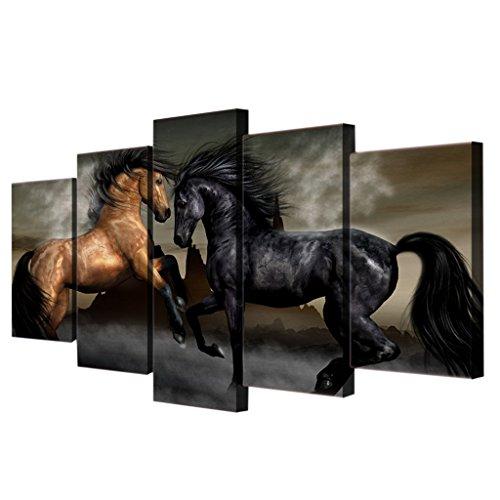 Homyl 5er-Set Leinwand Wandbild Kunstdrucke Wand Landschaften Gemälde Bild, Wohnzimmer Schlafzimmer...