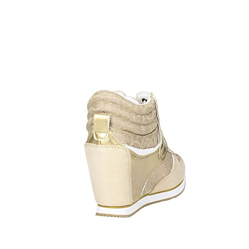Calvin Klein Jeans Damen Viridiana Metallic Jacquard/Su High-Top Gold