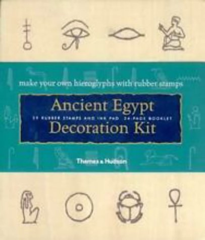 Ancient Egypt Decoration Kit: Make your own hieroglyphs with rubber stamps (The world of literature) by Jennifer Larson (17-Jul-2000) Paperback