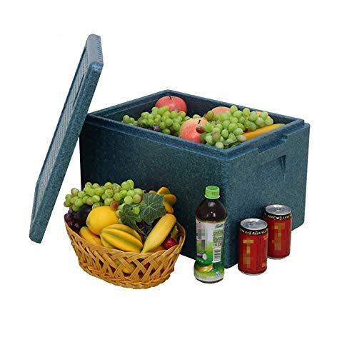 Heiße oder kalte Kühlbox Kühltasche für Picknicks Camping Kühlbox Isolierbox Aufbewahrungsbox Gefrierschrank Für Camping, Wohnwagen, Picknicks und Festivals ( Farbe : Blau , Größe : 46.8*35*30cm )