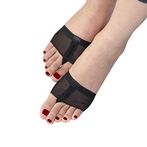 MoLiYanZi Bauchtanz Zehenkissen Fußvolle Ballett-Tanz-Mittelfuß-Pads Fußballen Vorfuß Kissen Covers Fußstütze 2 Paar, M
