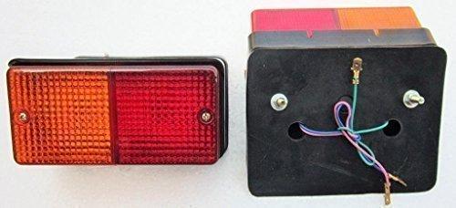 Bajato: Ford Tractores Cola Trasera Lámpara De Luz Intermitente LH + RH Conjunto (Con Los Bulbos)