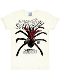original SPIDERMAN Retro Herren T-Shirt HERO IS BIRTH weiß IOOI Gr. S-XL