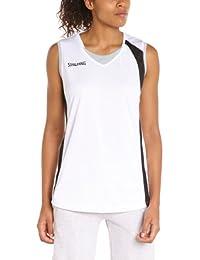Spalding 4her - Camiseta de baloncesto para mujer, color azul blanco Blanc/Noir/Gris Argent Talla:XXXL