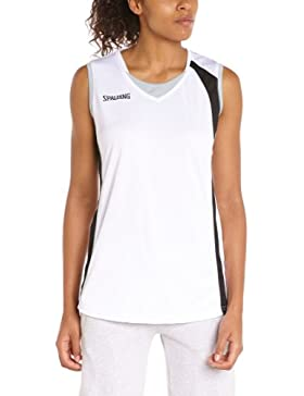 Spalding 4her - Camiseta, color blanco, talla XL