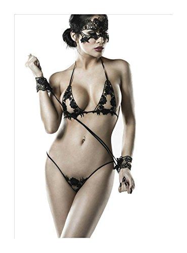 Preisvergleich Produktbild Grey Velvet Damen 4-teiliges Spitzen-Dessous-Set XS-L