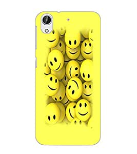 HTC DESIRE 626 GPLUS SMILEYS Back Cover by PRINTSWAG