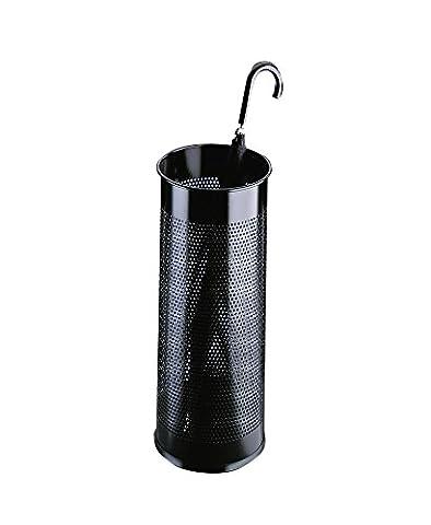 Durable Atlanta Umbrella Stand Tubular Metal Perforated, 28.5 L - Black