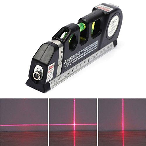 Laser Wasserwaage, VOSO Mehrzweckstufenlehre Bodenbelag Aligner Horizontale vertikale Maßnahme Standard Metric Lineal Tape Lineal