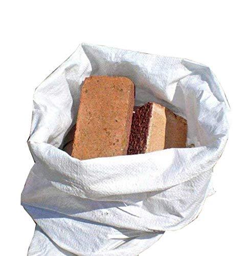 50x * Nuovo * * * in polipropilene Heavy Duty * * bianco e doppie Rubble builder sabbia sacchi borse. Dimensioni: 55cm x 85cm/55,9x 86,4cm. Capacità: 75kg circa, confezione da 50sacchetti)