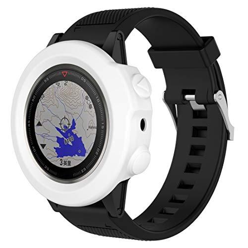 Chen Huan Cheng QW Montre Smart Watch Protection en Silicone Cas, hôte Non Inclus for Garmin Fenix 5X (Blanc) (Color : White)