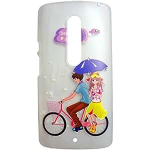Generic Phunk International Hard Case Mobile Cover For Motorola X Play (Transparent)
