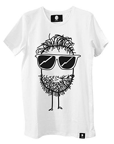 Quipster T-Shirt Beard I Kurzarm-Shirt Mit Rundhals & Coolem Motiv Für Damen & Herren I 100% Baumwolle I Weiß - L -