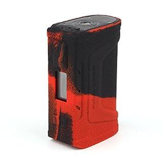 CEOKS für Geekvape Aegis Legend 200w Hülle, RutschfestSchützende Silikon-Hülle-Abdeckungs-Verpackungs-Haut für Geekvape Aegis Legend 200w Segeln Skin Ärmel Case Cover_Schwarz Rot