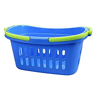ALPFA 801828 Shopping Basket, Plastic, blue, 25 x 25 x 39 cm