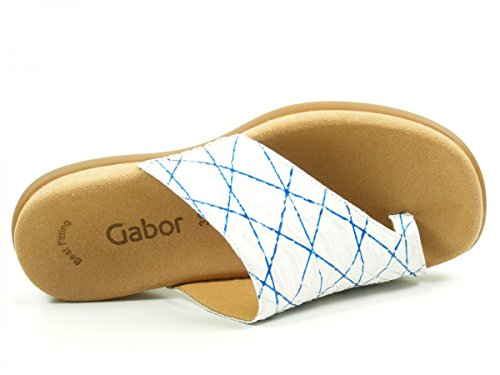 Gabor 43-700 Snake Schuhe Damen Pantoletten Dianetten Zehentrenner, Schuhgröße:36;Farbe:Blau -