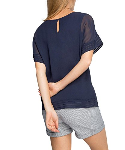 ESPRIT Collection Damen Bluse Blau (NAVY 400)