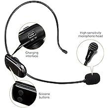 Zoweetek® UHF Micrófono inalámbrico, transmisión inalámbrica estable 35m, auriculares y de mano 2 en 1, para el amplificador de voz, ordenador, altavoces,Karaoke y más