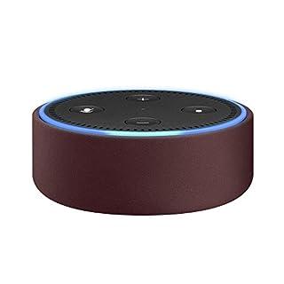 Amazon Echo Dot-Hülle (nur für Echo Dot 2. Generation geeignet), Bordeaux Leder