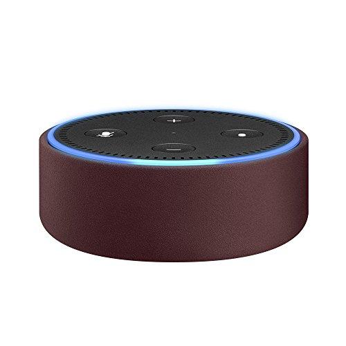 Amazon Echo Dot-Hülle (nur für Echo Dot 2. Generation geeignet), Bordeaux Leder -