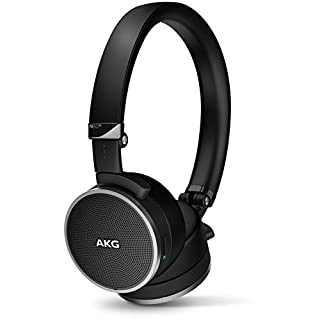 AKG N60NC Foldable Active Noise Cancelling On-Ear Headphones [WIRED] with Carry Case - Black