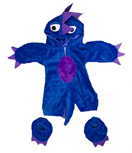 A Bear Kostüm Build - blaues Monster Teddybär Kostüm - Halloween - 40cm - Teddybär-Klamotten - Teddybärkleidung - Build a Bear